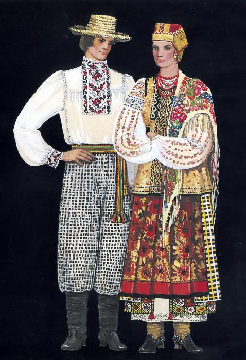 KHARKOV REGION. Late 19th - early 20th c. Man s costume Woman s costume 596dc58b48b1c
