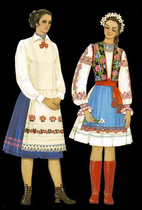 Українські народні костюми - Украинская Одежда - Український Сувенір 3aec145f245df