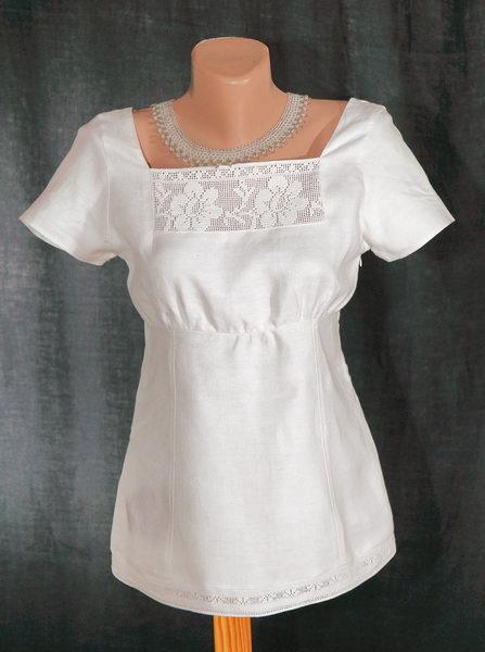 Біла ружа (мережана) - Одяг - Український Сувенір 2c7aceffc0f27